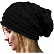160928c73a9 Women Fashion Cable Knit Wool Winter Warm Hat Soft Slouchy Beanie Skully Cap
