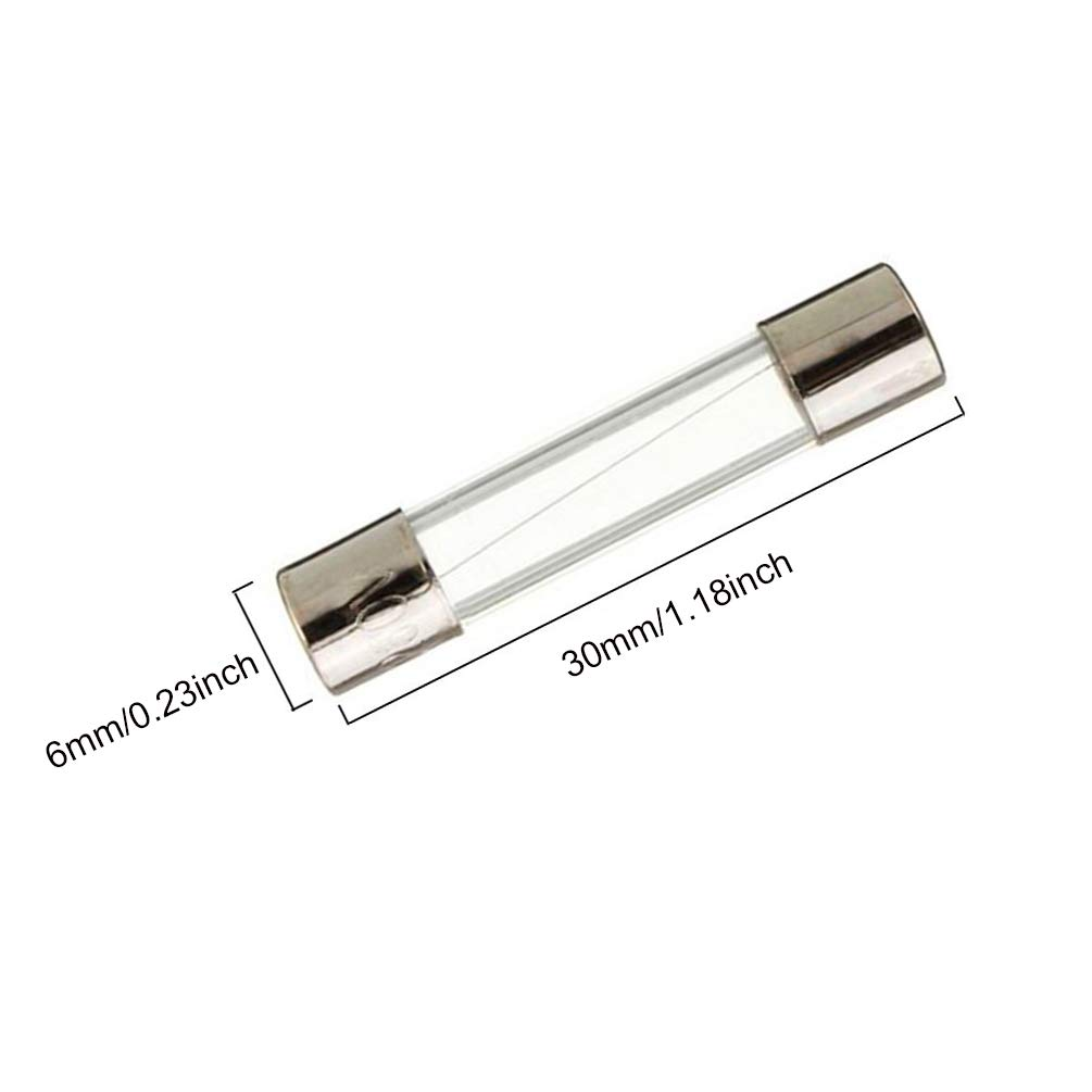 1amp FBApayipa Pack of 10 pcs F1AL Fast-Blow Fuse 1A 250V Glass Fuses 0.23 x 1.18 inch F1A 6 x 30 mm