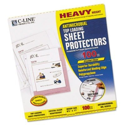 C-Line 62033 Hvywt Poly Sht Protector, Clear, Top-Loading, 2