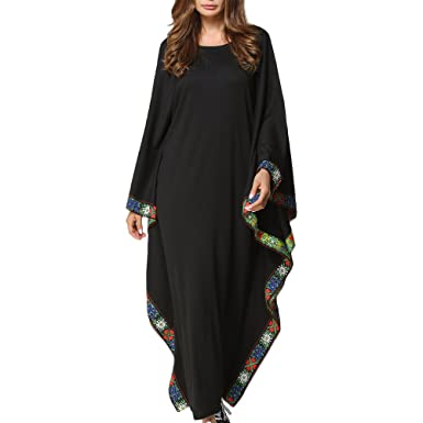 Zhhlinyuan Muslims Women Flowy Gown Maxi Long Dress For Kaftan Malaysia Caftan Abaya