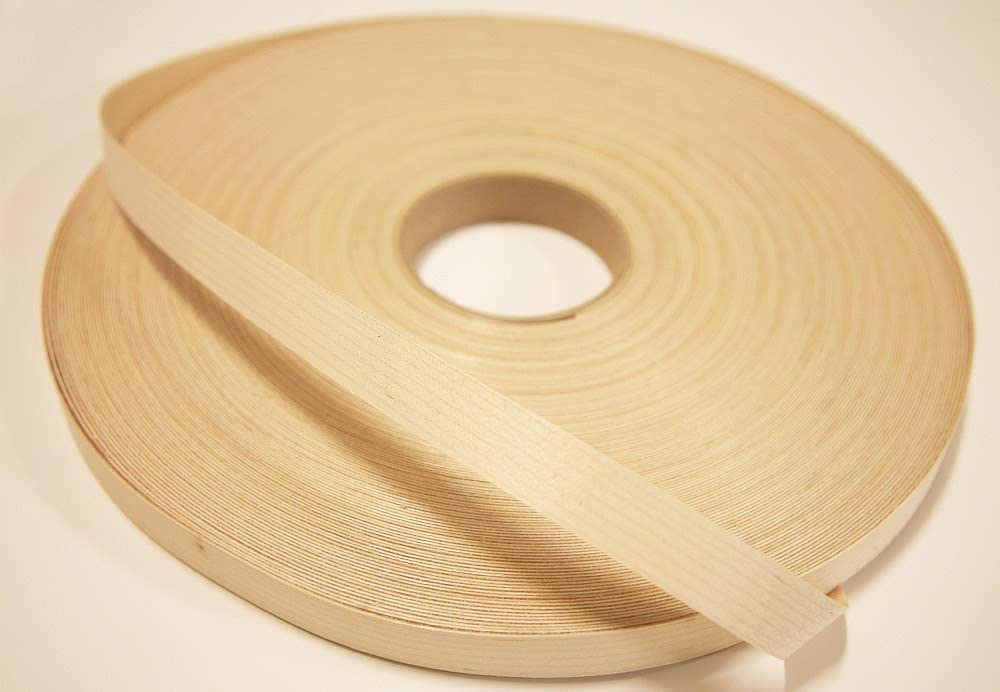 Veneer Tech White Birch Edgebanding 7//8 Wide No Glue 500 Roll