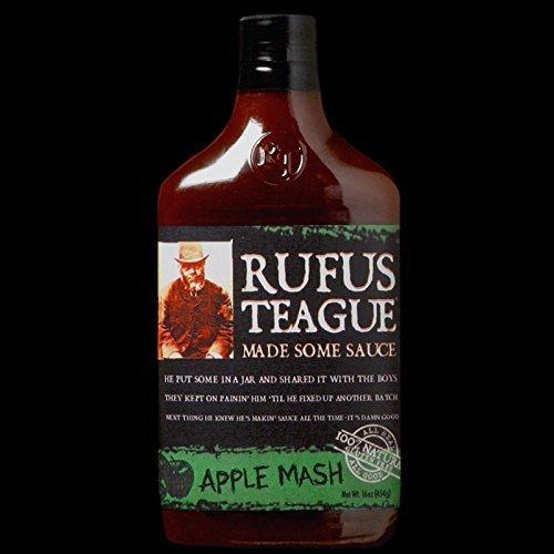 Rufus Teague BBQ Sauce 16oz Flask Shaped Bottle  Choose Flav