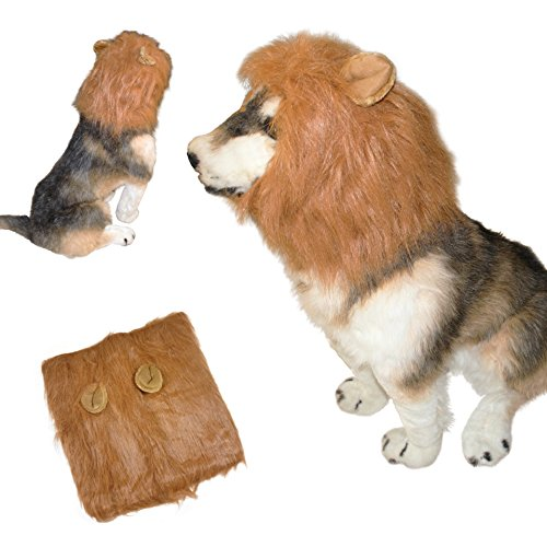 eSay Dog Lion Mane For Dog Costumes, Christmas Party, Lion Wig For Medium To Large - Vb Q