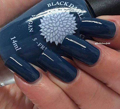 Amazon.com: Moonlight Petals | Navy Blue Creme Nail Polish | by ...