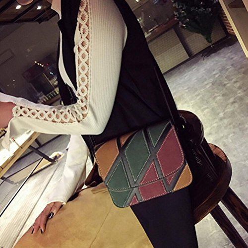 Shoulder Leather Bag Crossbody Womens Handbags Retro Black Bags Small Inkach qAXwIPI