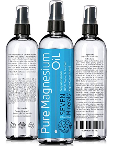 MAGNESIUM OIL Natural Cure for Restless Legs, Headaches, Migraines and more!