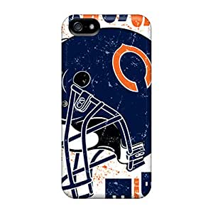 Anti-Scratch Hard Phone Cover For Apple Iphone 5/5s With Allow Personal Design HD Chicago Bears Skin CharlesPoirier