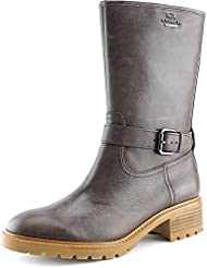 Coach Womens Genie Leather Closed Toe Mid-Calf Fashion Boots