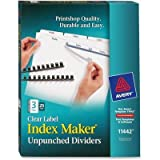 Avery Print & Apply Unpunched Dividers, Index Maker Easy Apply Strip, 3 Printable Tabs, 25 Divider Sets (11442)