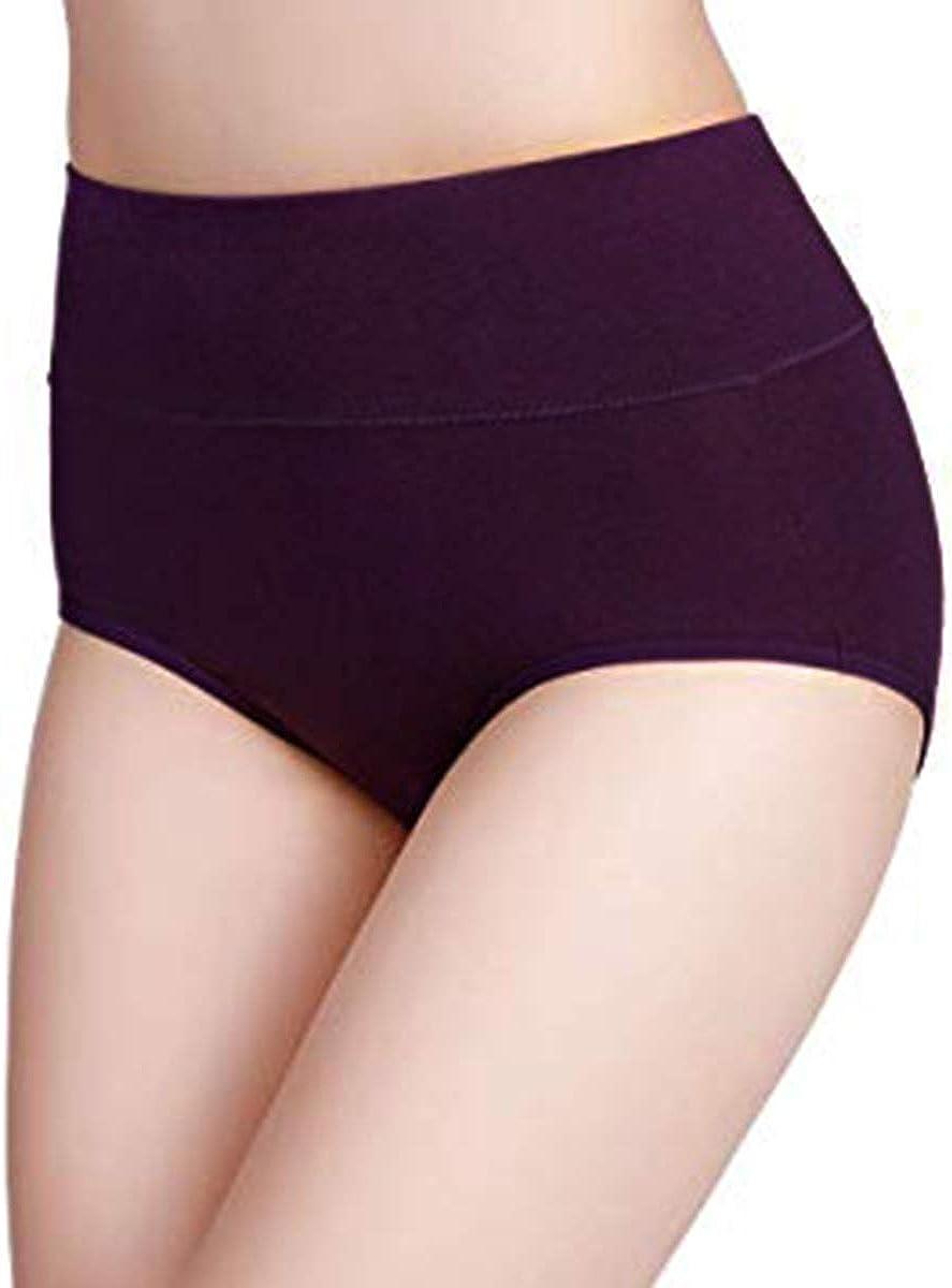 Pack de 4 WhiFan Braguitas Culotte Algod/ón para Mujer Bragas de Cintura Alta Pantalones