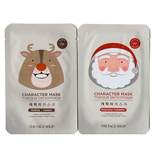[The Face Shop] Character Mask Sheet (Santa Claus / Rudolph) (Animal Face Mask)