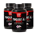 Longjack Extract - Tongkat Ali 200: 1 Premium Extract - Natural Testosterone Booster (3 Bottles 180 Capsules)