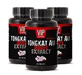 Male Enhancing Pills Erection Best Seller - TONGKAT ALI Extract 200:1 400MG - LONGJACK - tongkat Bulk Capsules - 3 Bottles 180 Capsules