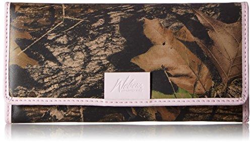 Weber's Leathers Women's Clutch Wallet, Mossy Oak Break-Up/Pink, One Size Webers Leather