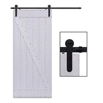 CCJH 8FT-244cm Herraje para Puertas Kit de Accesorios para Puerta Correderas Juego de Armarios