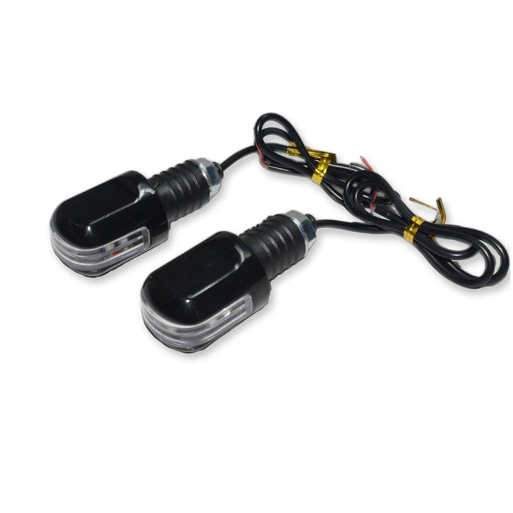 Motorcycle Handlebar End Mini LED Turn Signal Indicator Blinker Light For Harley