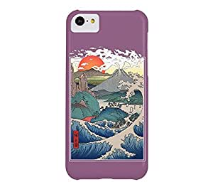 Asian Sunset iPhone 5c Antique fuchsia Barely There Phone Case