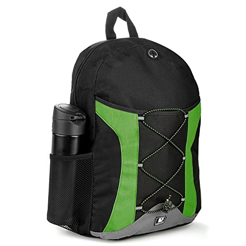 SumacLife Canvas Athletic Laptop Bag / Shoulder Bag / School BackPack (Green)