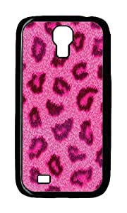 Samsung S4 Case,VUTTOO Cover With Photo: Pink Leopard I For Samsung Galaxy S4 I9500 - PC Black Hard Case
