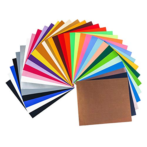 HTV PU Heat Transfer Vinyl Bundle: 33 Sheets 10