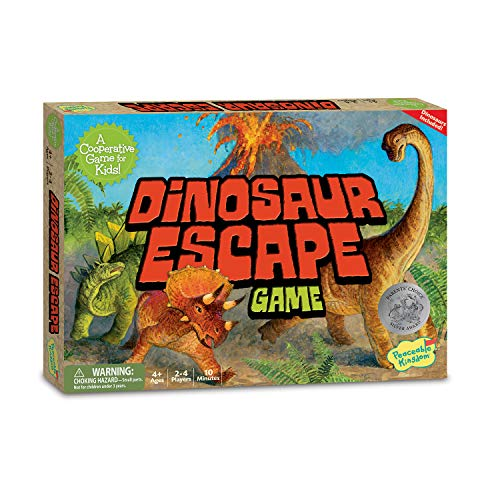 Dinosaur Monopoly - Peaceable Kingdom Dinosaur Escape Award Winning Cooperative Game of Logic and Luck for Kids