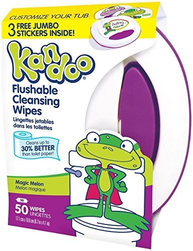 Kandoo Flushable Toddler Wipes - Magic Melon Scent - 50 ct by Kandoo