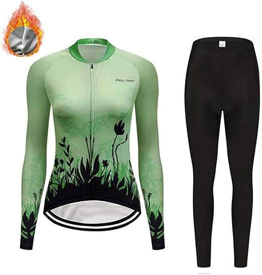 YDJGY Maillot Ciclismo Manga Larga, conjunto ropa ciclismo anti-UV ...