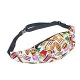 Fringoo Big Boys' Belt Bag Waist Money Holder Pouch Travel Money Wallet Pack Zip Adjustable Size Fits All Fast Food