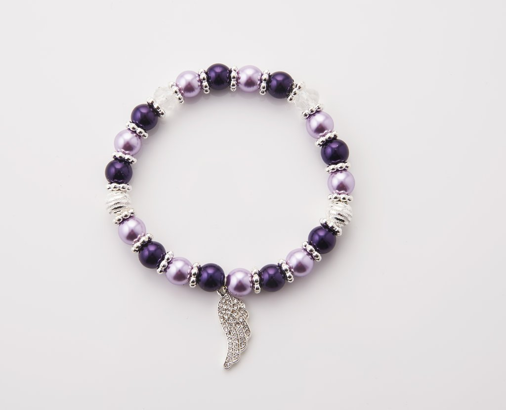 Guardian Angel Wing - Purple and Lavender - Stretch