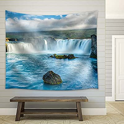 Made With Top Quality, Astonishing Piece, Mountains and Waterfall