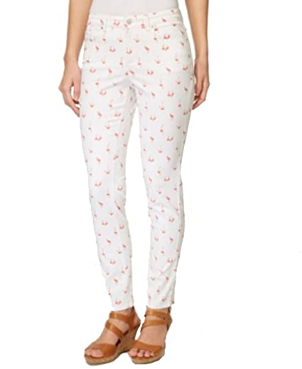 0271d6042fc Charter Club Bristol Printed Skinny Ankle Jeans (Dark Sorbet Flamingos