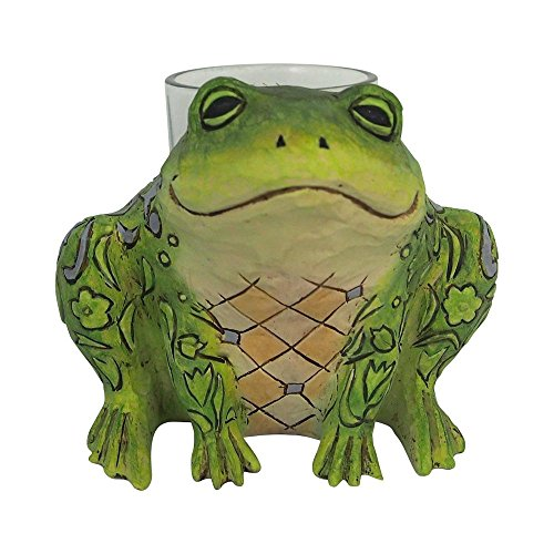 Jim Shore Frog - Enesco 6001609 Frog Candle Holder, Multicolor
