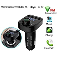 Autoday Automotive Car Wireless Bluetooth Adapter MP3 Player FM Transmitter Kit Handsfree LED USB Charger U Disk/SD Card Music Receiver (Ship From US)