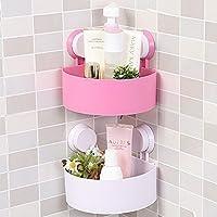 Divinz Bathroom Corner Shelf Cosmetic Storage Plastic Holder (1 Pieces)/A Set Strong Stickiness Corner Shelves