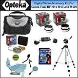 Opteka Digital Video Accessory Kit for the Canon Vixia HF M41, HF M40 And HF M400 43mm Digital Camcorders