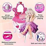 2-in-1 Musical Piano Vanity Set Girls Toy Makeup
