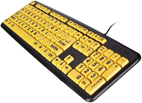 funnytoday teclas amarillo de gran contraste negro carta ABS ...