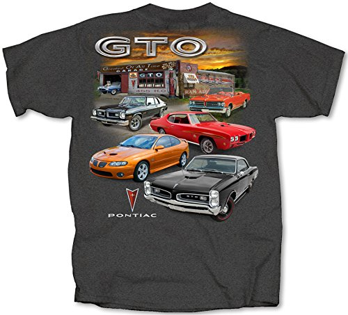 (Joe Blow T's Pontiac GTO Greatest Garage Adult T-Shirt, X-Large, Tweed)