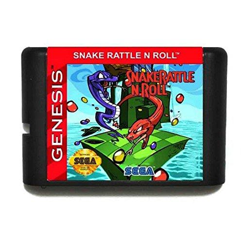 Taka Co 16 Bit Sega MD Game Snake Rattle n Roll MD 16 bit Game Card For Sega Mega Drive For Genesis (Rattle Pal)
