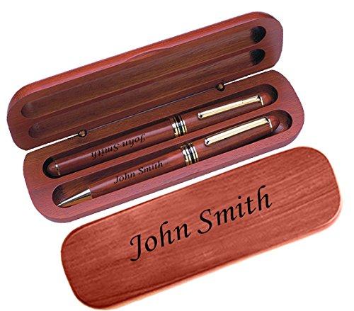(Personalized Custom Laser Engraving Ballpoint & Fountain Pen Set Gift Present Bespoke Customized Engraving)