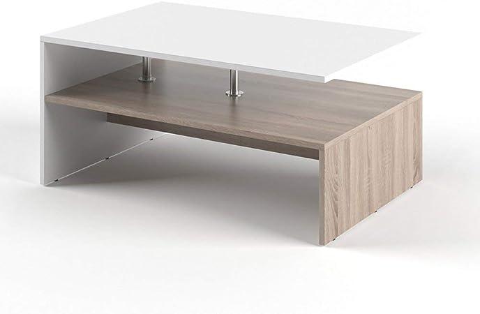 Vicco Tavolino da Divano Amato Tavolino da Salotto Antracite Bianco Tavolino