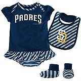 MLB San Diego Padres Newborn Girls Bib & Booty,6/9 Months,Athletic Navy