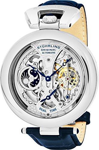 en's 127A.3315C2 Emperor's Grandeur Analog Automatic Self Wind Blue Leather Watch ()