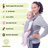 Baby Wrap Carrier by KeaBabies - All-in-1 Stretchy Baby...