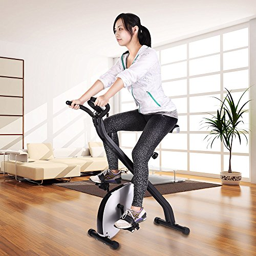 AW Silver Fitness Exercise Bike 1.5KG Cast Iron Flywheel 220 lbs Capacity Home Sport Exercise
