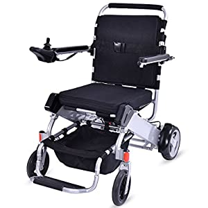Giantex Lightweight 55 lbs only Heavy Duty Supports 330 lbs Aluminum Foldable Wheelchair Electric Power Propelled Portable by Giantex