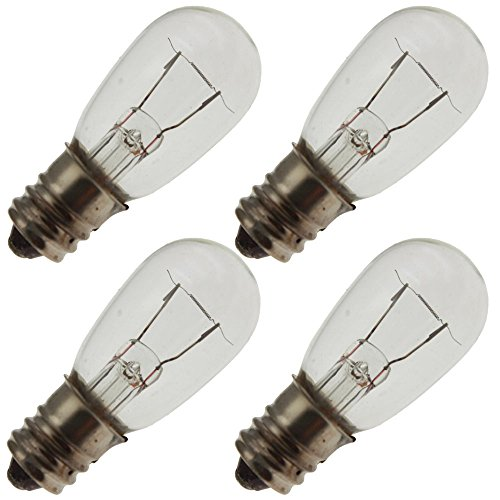CHICAGO MINIATURE 6S6 30V, 6 Watt, S6, Candelabra Screw (E12) Base Light Bulb (4 Bulbs) (S6 Candelabra Screw)