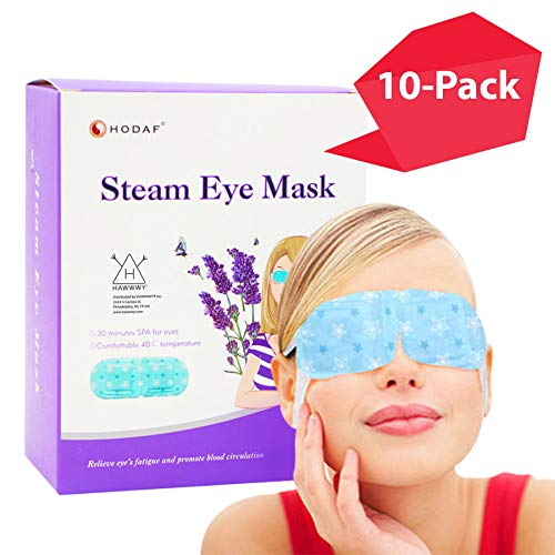 Gentle Steam Eye Heat Mask | 10-PACK | The BEST Heating Eye Mask | Just Put-On and Relax | Reduces Stress, Puffy Eyes & Dark Circles | Eye Steam Mask | Disposable Eye Masks | Spa Feeling @ Home