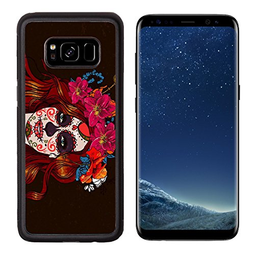 Liili Premium Samsung Galaxy S8 Aluminum Backplate Bumper Snap Case ID: 24776313 Girl With Sugar Skull Day of the (Cute Makeup Halloween Ideas)
