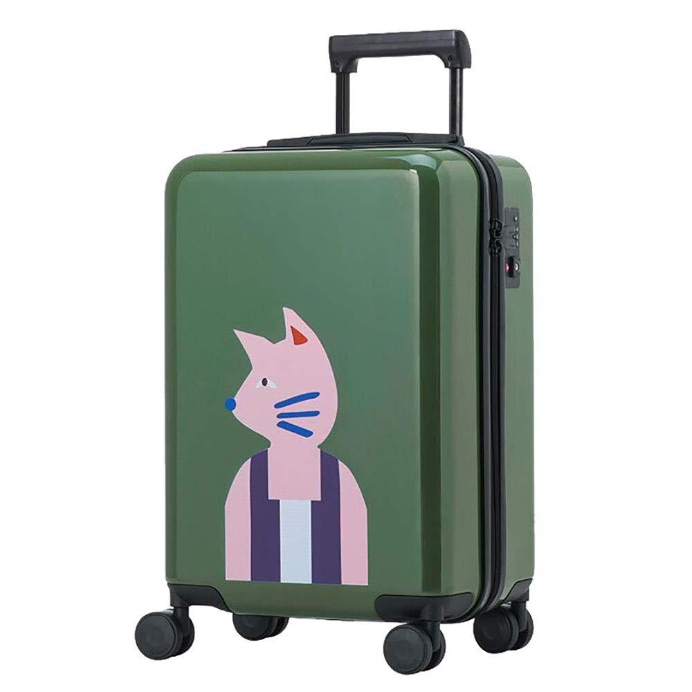 荷物の女性の小さな新しいパスワードボックスのトロリーケース男性20インチかわいい学生のスーツケース黒 B07KWJKR9J